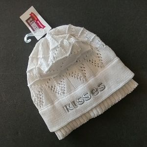 Hershey Kisses white silver knit beanie hat
